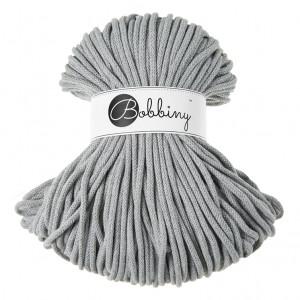 Bobbiny® Premium Macramé Cord Yarn, Silver, 5 mm.