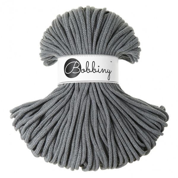 Bobbiny® Premium Macramé Cord Yarn, Steel, 5 mm.