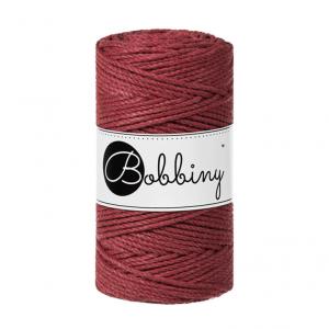 (PREORDER) Bobbiny Premium Macramé Rope, Wild Rose, 3 mm.