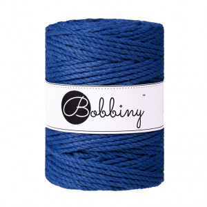 Bobbiny Premium Macramé Rope, Classic Blue, 5 mm.