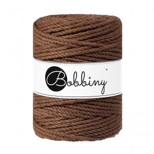 Bobbiny Premium Macramé Rope, Mocha, 5 mm.