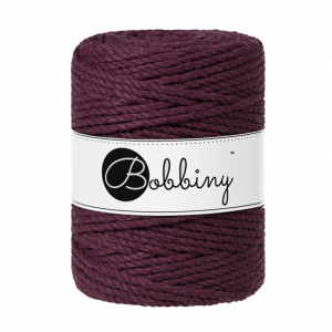 (PREORDER) Bobbiny Premium Macramé Rope, Blackberry, 5 mm.