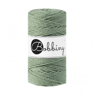 Bobbiny® Premium Macramé Rope, Eucalyptus, 3 mm.