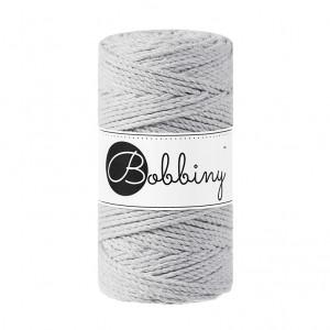 Bobbiny® Premium Macramé Rope, Light Grey, 3 mm.