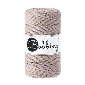 Bobbiny® Premium Macramé Rope, Pearl, 3 mm.