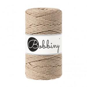 Bobbiny® Premium Macramé Rope, Sand, 3 mm.