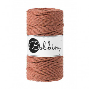Bobbiny Premium Macramé Rope, Terra Cotta, 3 mm.