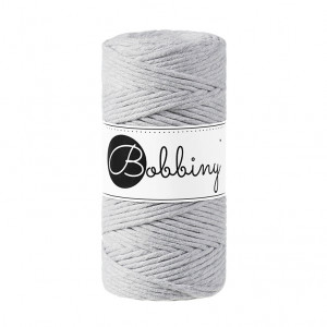 Bobbiny® Premium Macramé String, Light Grey, 3 mm.