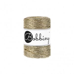 Bobbiny® Premium Macramé String, Metallic Gold, 3 mm.