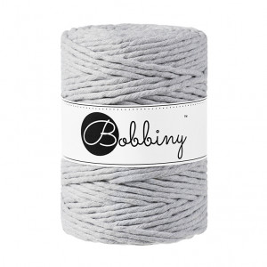 (PREORDER) Bobbiny Premium Macramé String, Light Grey, 5 mm.