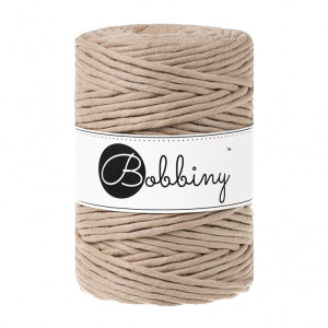 Bobbiny Premium Macramé String, Sand, 5 mm.