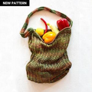 Pazar Market Bag Knitting Pattern + Jute Bag