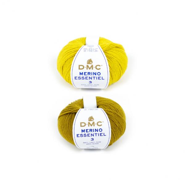 DMC Merino Essentiel 3 Yarn Color Pack (The Yellow Shades)