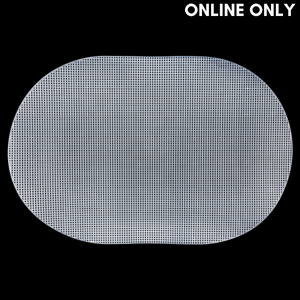 wone Plastic Mesh Canvas, Oval, Size 2