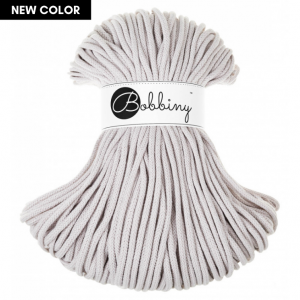 Bobbiny Premium Macramé Cord Yarn, Moonlight, 5 mm.