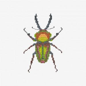 Beetle Pattern in DMC Mouliné Spécial