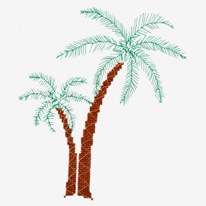 Palms Pattern in DMC® Mouliné Spécial®