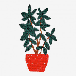 Plant Pot Pattern in DMC® Mouliné Spécial®