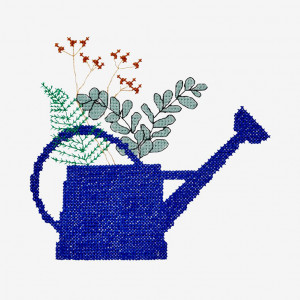 Watering Can Pattern in DMC® Mouliné Spécial®