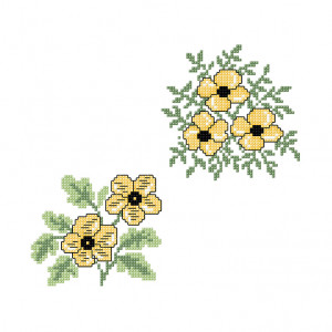 Buttercup Cluster Pattern in DMC® Mouliné Spécial®