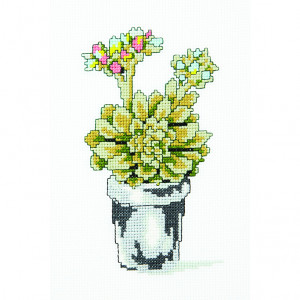 Flowering Succulent Pattern in DMC® Mouliné Spécial®