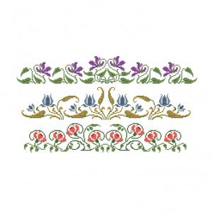 Decadent Country Garden Pattern in DMC® Mouliné Spécial®