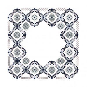 Floral Mosaic Pattern in DMC® Mouliné Spécial®