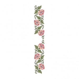 Floral Stencil Pattern in DMC® Mouliné Spécial®