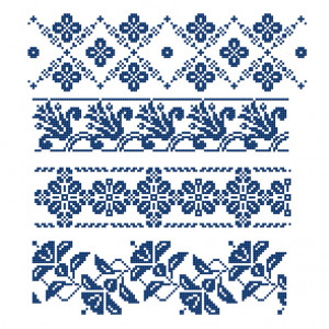 Floral Tile Pattern in DMC® Mouliné Spécial®