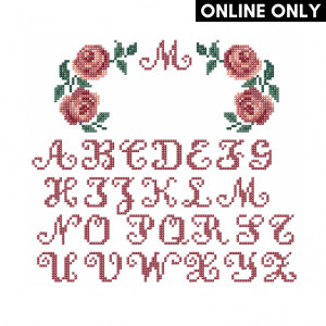 Personalised Rose Pattern in DMC® Mouliné Spécial®