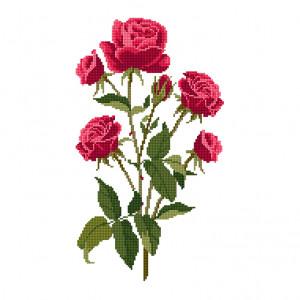 Roses Pattern in DMC® Mouliné Spécial®
