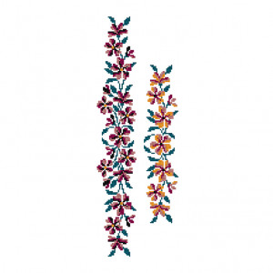 Summer Flower Garland Pattern in DMC® Mouliné Spécial®