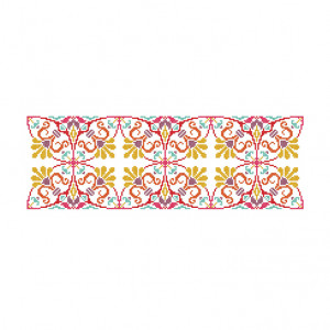 Summer Kaleidoscope Pattern in DMC® Mouliné Spécial®
