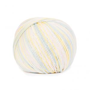 DMC Natura Just Cotton Multico Yarn - Blue Lemon (M909)