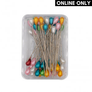 Dressmaker Pins, Assorted Pearl Head, Pack of 50