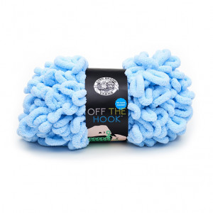 Lion Brand Off The Hook Yarn - Made in Blue (105)