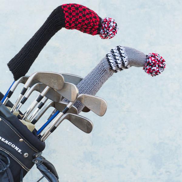 Knit Golf Headcovers Pattern in Red Heart  Super Saver  at Yarns Dubai Yarn...