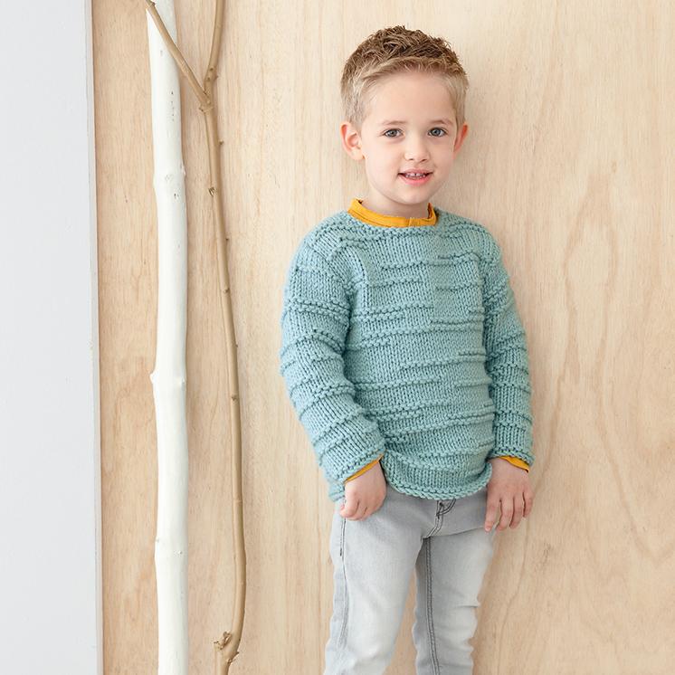 Boys Sweater Pattern In Phildar Rapido At Yarns Dubai Yarnsdubai