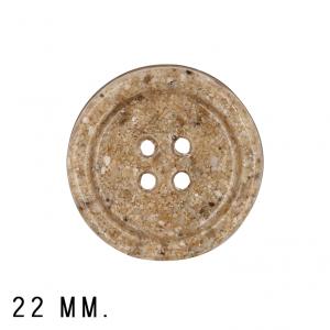 Roya Crafts Handmade Resin Sandy Night Buttons, 22 mm., Pack of 4
