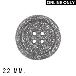 Roya Crafts Handmade Resin Silvery Night Buttons, 22 mm., Pack of 4