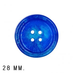 Roya Crafts Handmade Resin Dark Blue Night Buttons, 28 mm., Pack of 4