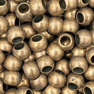Handmayk Beads, 5 mm., Shiny Brass, Oval, Pack of 24