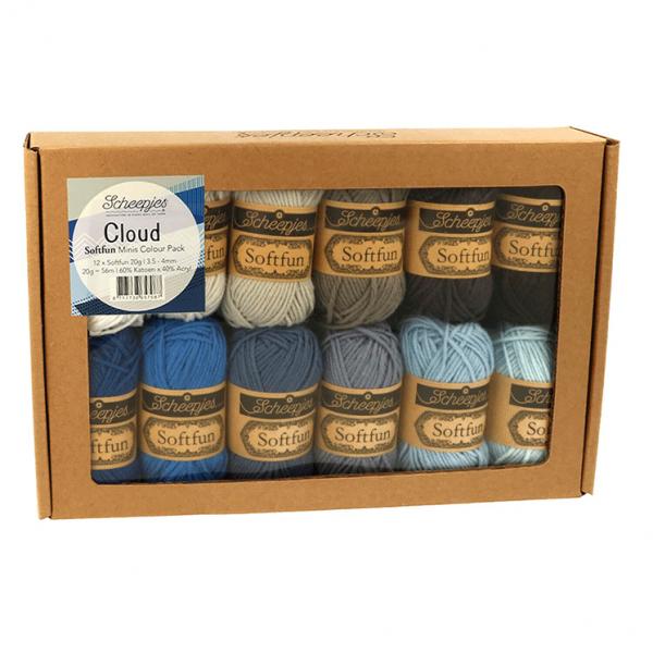 Scheepjes Softfun Yarn Color Pack (Cloud)
