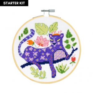 DMC Counted Cross Stitch Starter Kit - Beautiful Panther