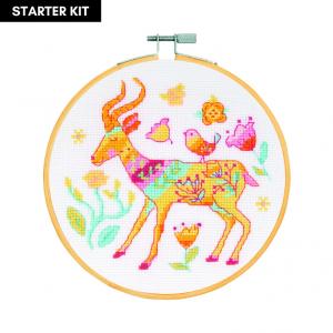 DMC Counted Cross Stitch Starter Kit - The Antelope