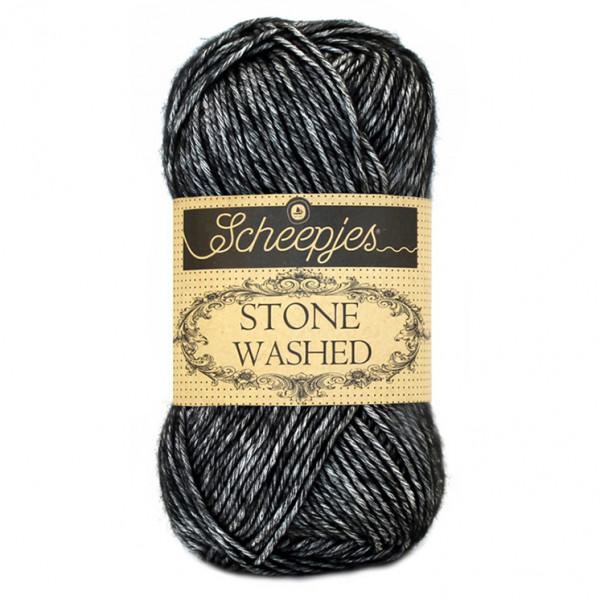 Scheepjes Stone Washed Yarn - Black Onyx (803)