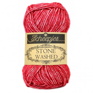 Scheepjes® Stone Washed Yarn - Red Jasper (807)