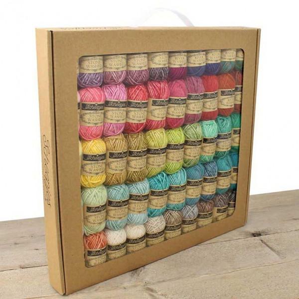 Scheepjes® Stone Washed / River Washed Yarn - 58 Skein (10 gr.) Color Pack