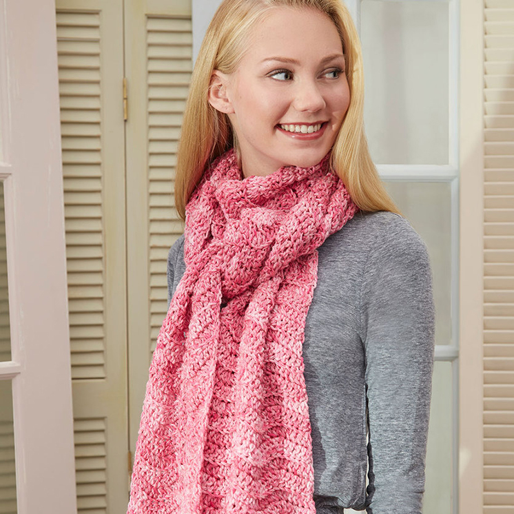 Speckled Super Scarf Pattern in Red Heart® Super Saver® at Yarns ...
