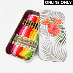 DMC Stranded Cotton Embroidery Thread Color Pack (Floral Collectors Tin)